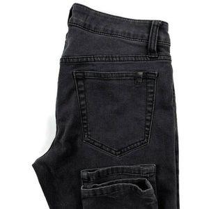 Joes Jeans Faded Black Honey Skinny Stretch Jeans